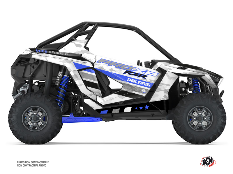 Polaris RZR PRO XP UTV Force Graphic Kit Blue