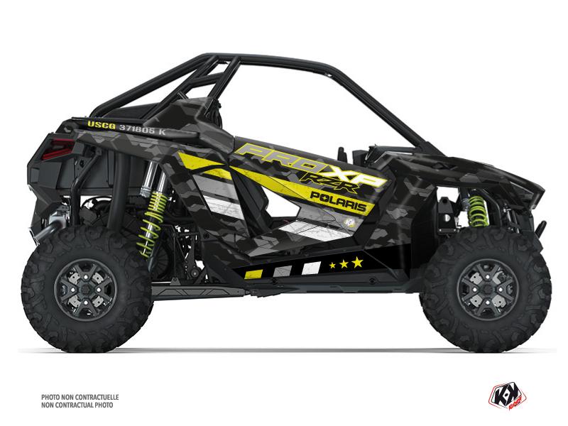 Polaris RZR PRO XP UTV Force Graphic Kit Black Neon Green