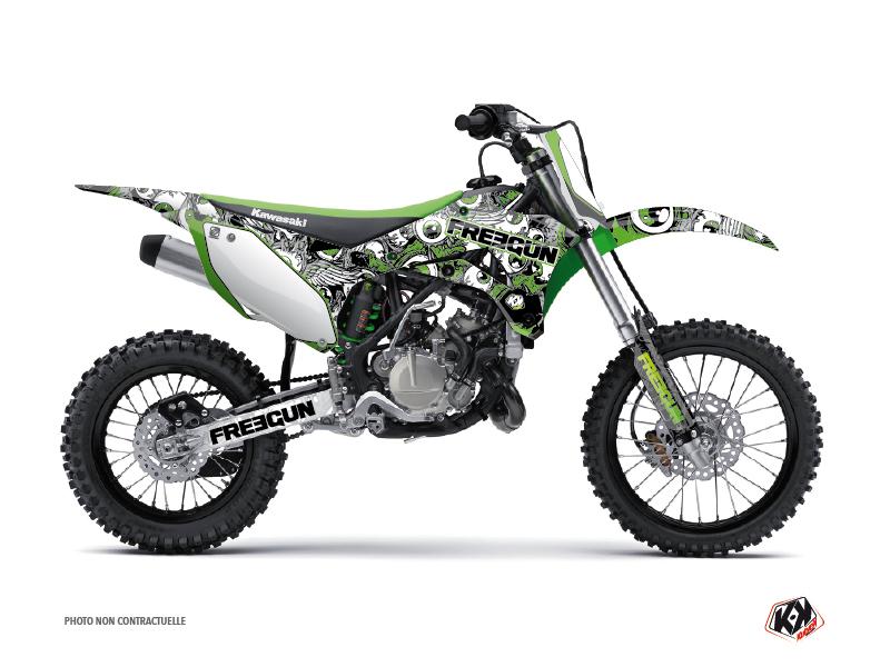 Kawasaki 110 KLX Dirt Bike Freegun Eyed Graphic Kit Green