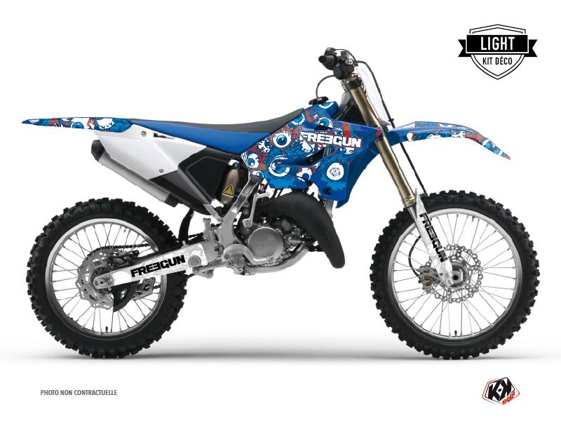 Yamaha 250 YZ Dirt Bike Freegun Eyed Graphic Kit Red LIGHT