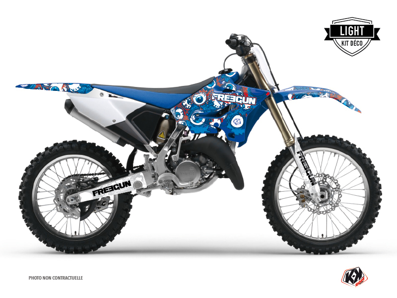 Kit Déco Moto Cross Freegun Eyed Yamaha 125 YZ Rouge LIGHT