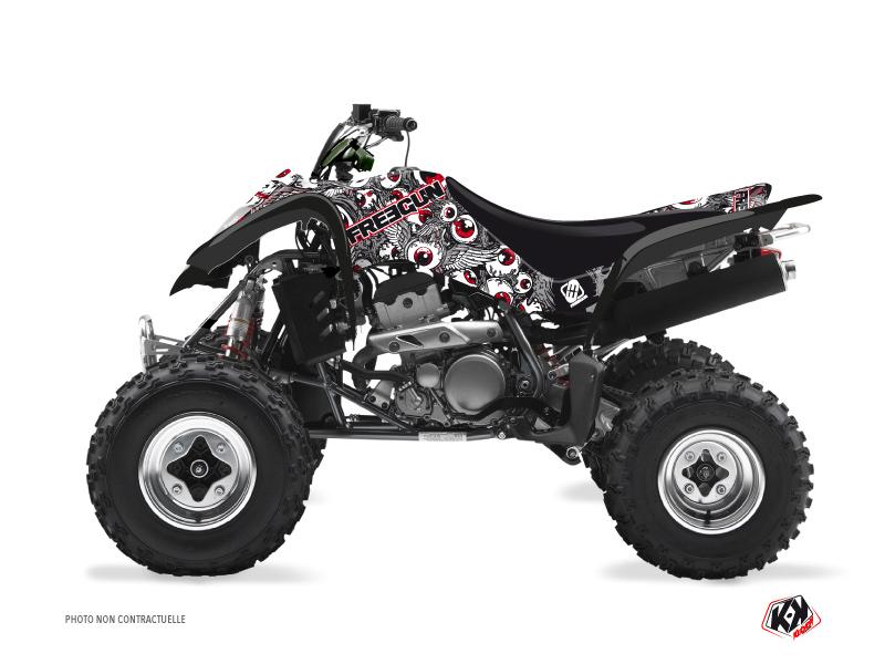 Suzuki 250 LTZ ATV Freegun Eyed Graphic Kit Grey Red