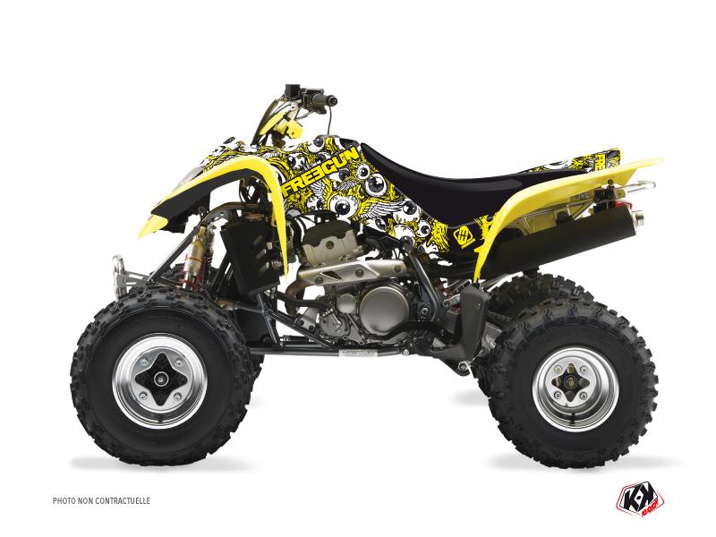 Suzuki 250 LTZ ATV Freegun Eyed Graphic Kit Yellow
