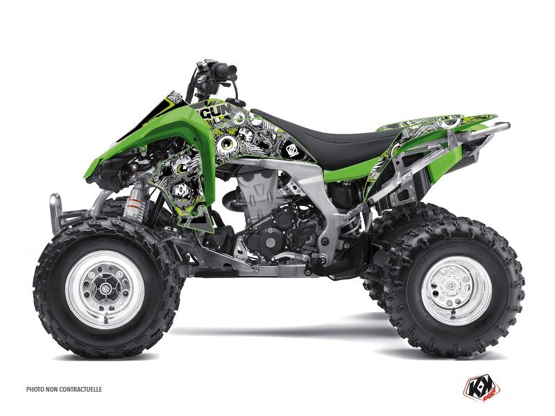 Kawasaki 450 KFX ATV Freegun Eyed Graphic Kit Green