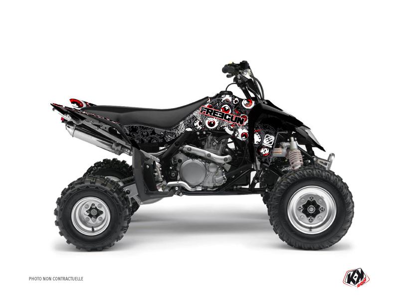 Suzuki 450 LTR ATV Freegun Eyed Graphic Kit Grey Red