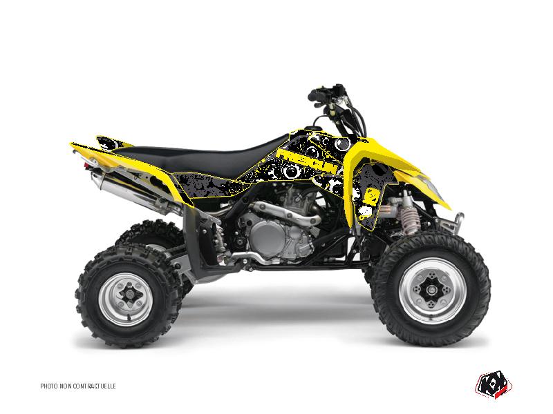 Suzuki 450 LTR ATV Freegun Eyed Graphic Kit Yellow