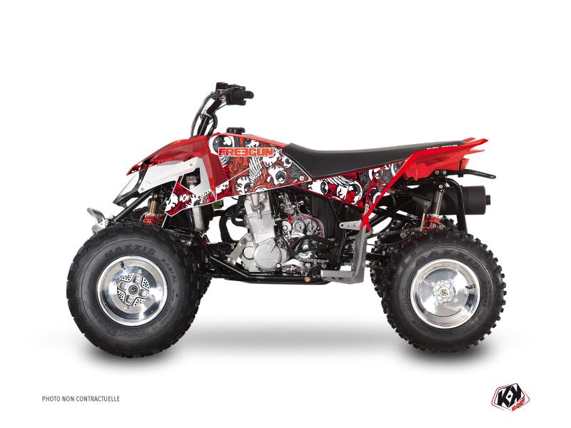 Polaris Outlaw 450 ATV Freegun Eyed Graphic Kit Red Grey