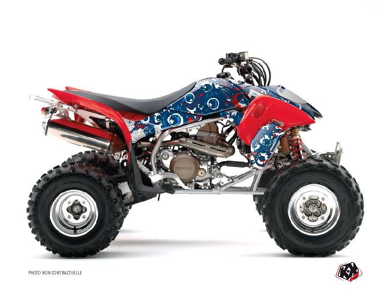 Honda 450 TRX ATV Freegun Eyed Graphic Kit Red