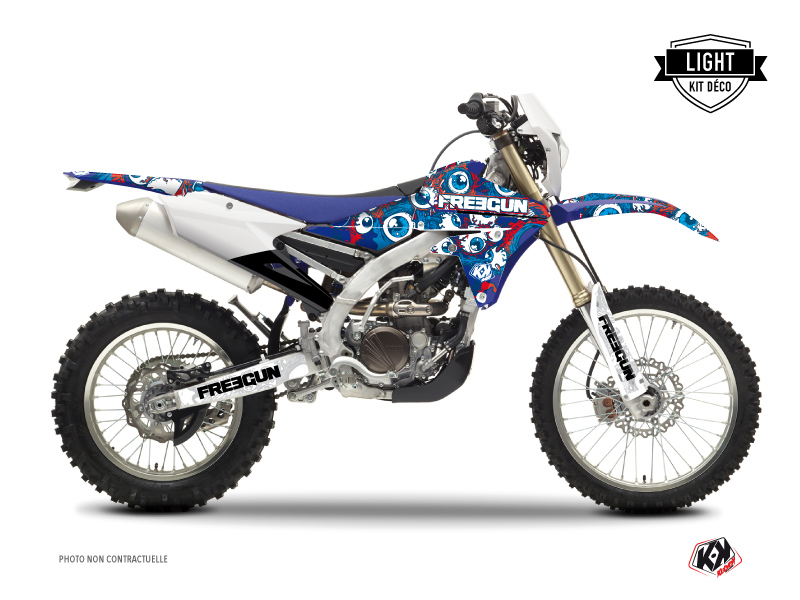 Yamaha 450 WRF Dirt Bike Freegun Eyed Graphic Kit Red LIGHT
