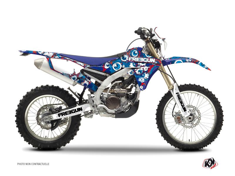Yamaha 450 WRF Dirt Bike Freegun Eyed Graphic Kit Red