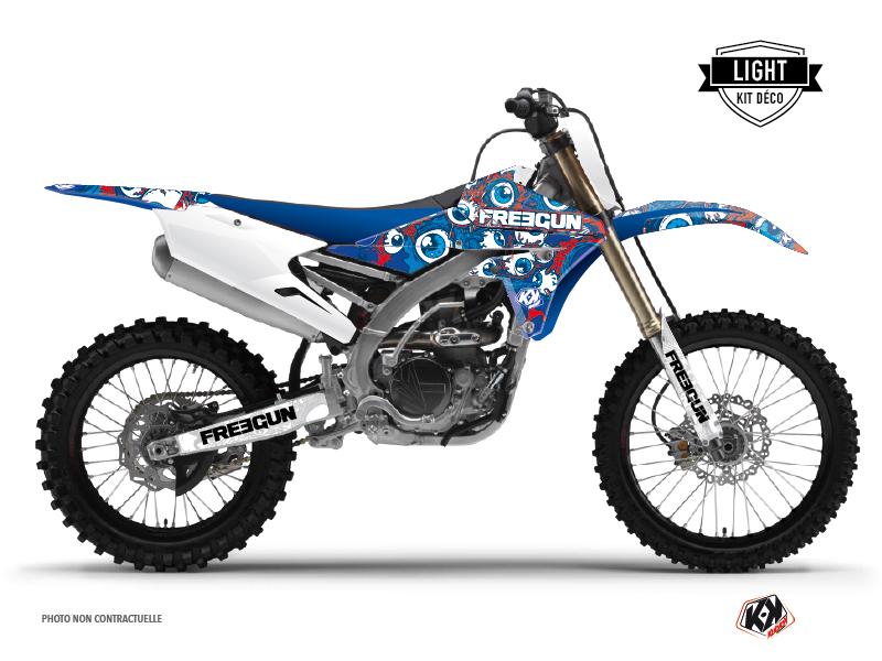 Kit Déco Moto Cross Freegun Eyed Yamaha 450 YZF Rouge LIGHT
