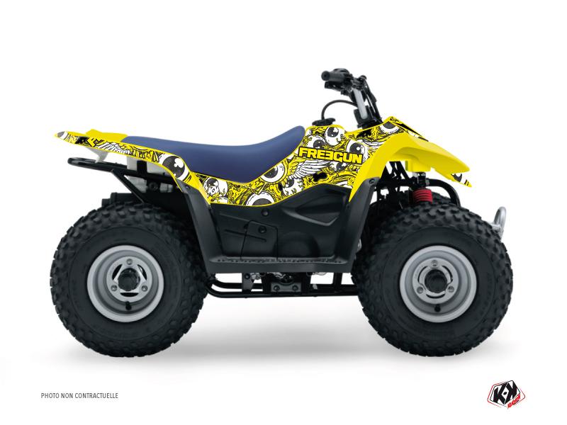 Suzuki 50 LT ATV Freegun Eyed Graphic Kit Yellow