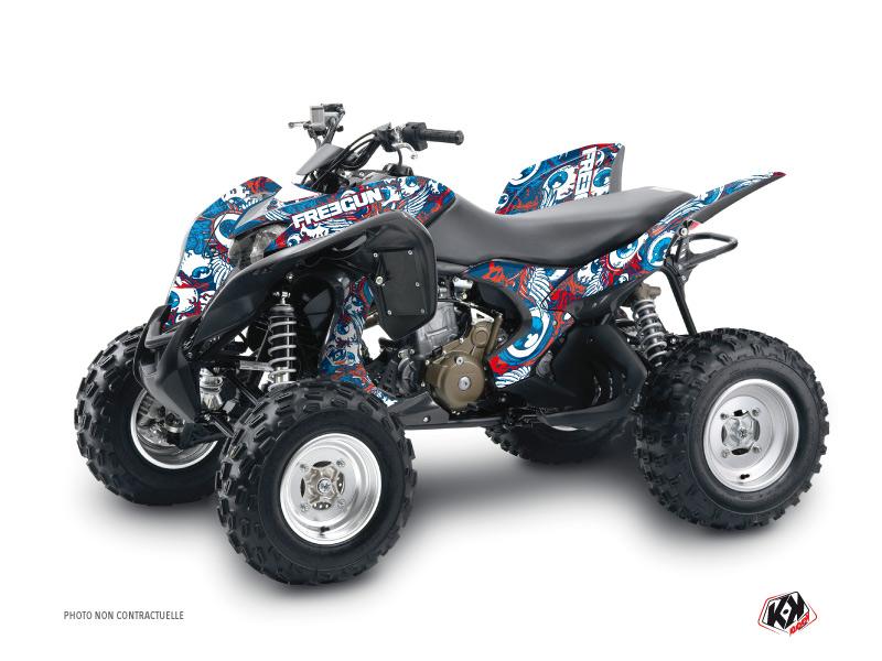 Honda 700 TRX ATV Freegun Eyed Graphic Kit Red