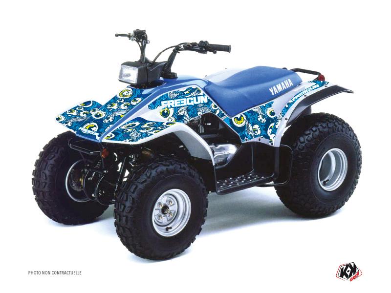 Yamaha Breeze ATV Freegun Eyed Graphic Kit Blue