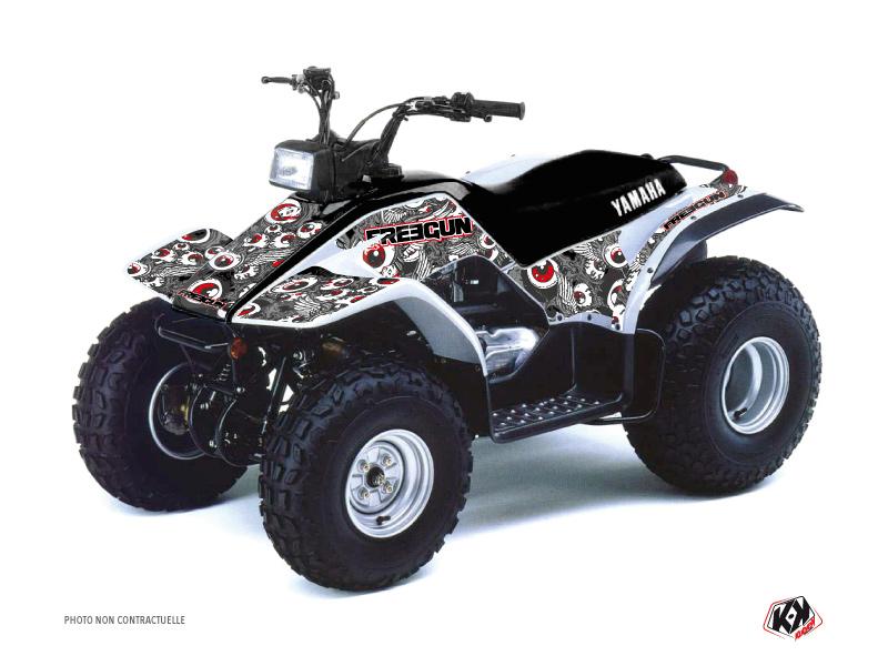 Yamaha Breeze ATV Freegun Eyed Graphic Kit Red