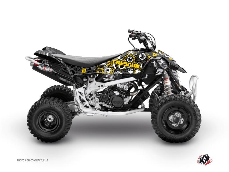 Can Am DS 90 ATV Freegun Eyed Graphic Kit Yellow