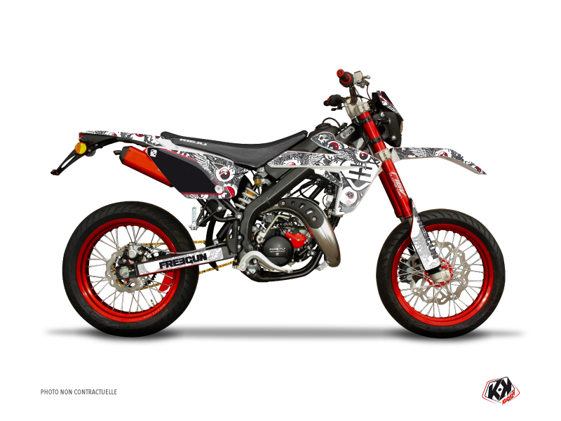 Kit Déco 50cc Freegun Eyed Rieju MRT 50 Gris Rouge