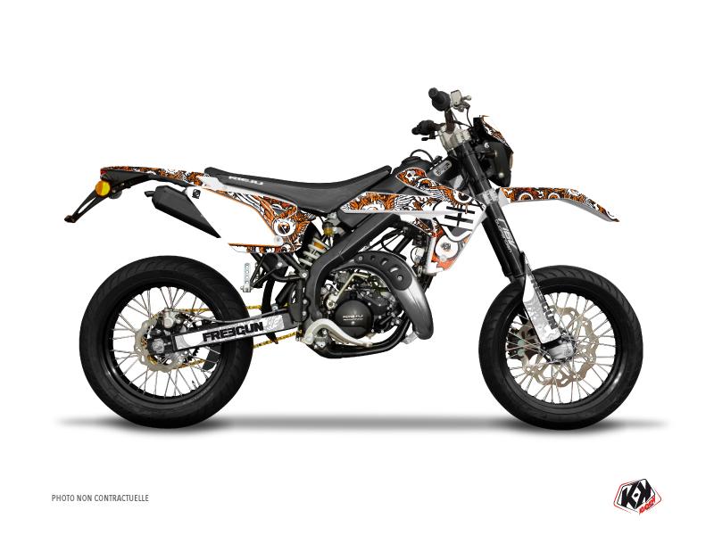 Kit Déco 50cc Freegun Eyed Rieju MRT 50 Orange