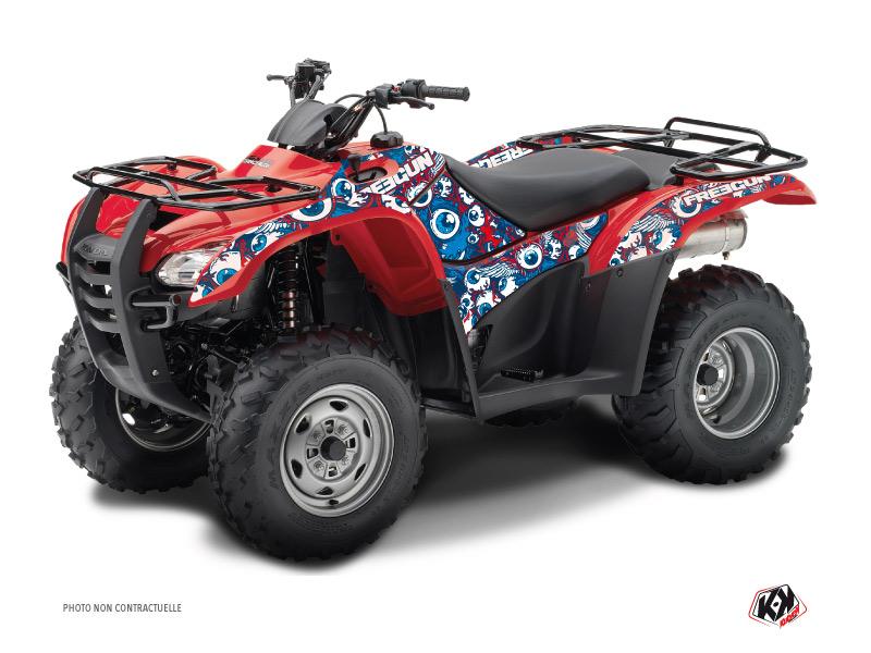 Honda Rancher 420 ATV Freegun Eyed Graphic Kit Red