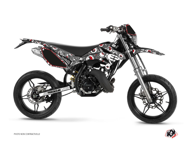 Beta RR 50 Motard 50cc Freegun Eyed Graphic Kit Grey Red