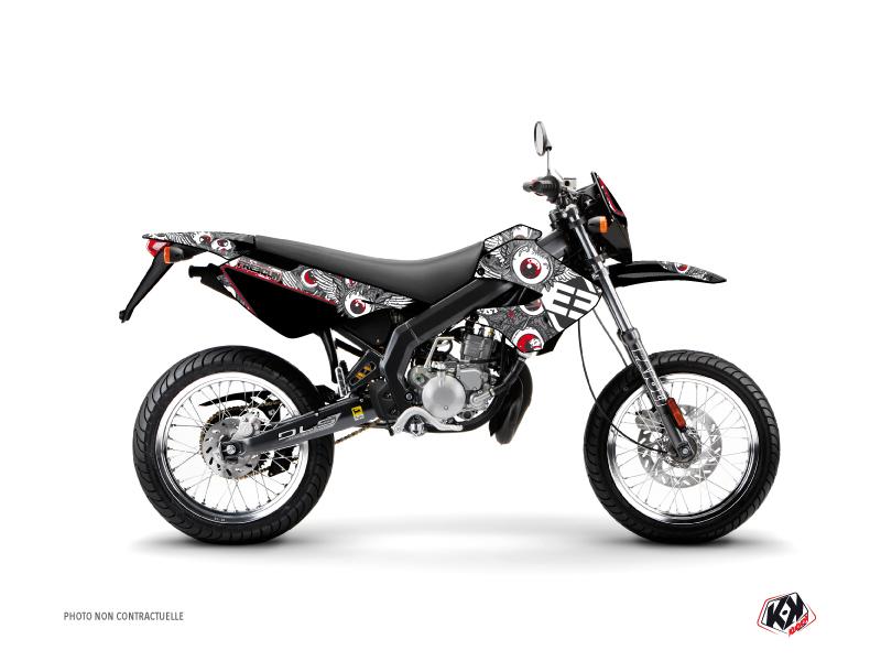 Derbi Xtreme / Xrace 50cc Freegun Eyed Graphic Kit Grey Red