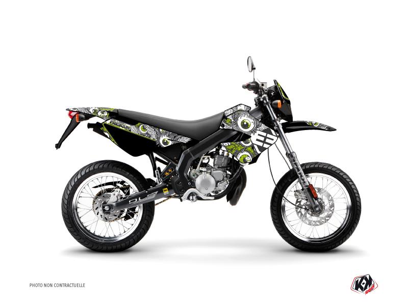 Derbi Xtreme / Xrace 50cc Freegun Eyed Graphic Kit Green