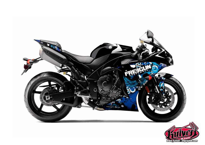 Yamaha R1 Street Bike Freegun Graphic Kit Headhake