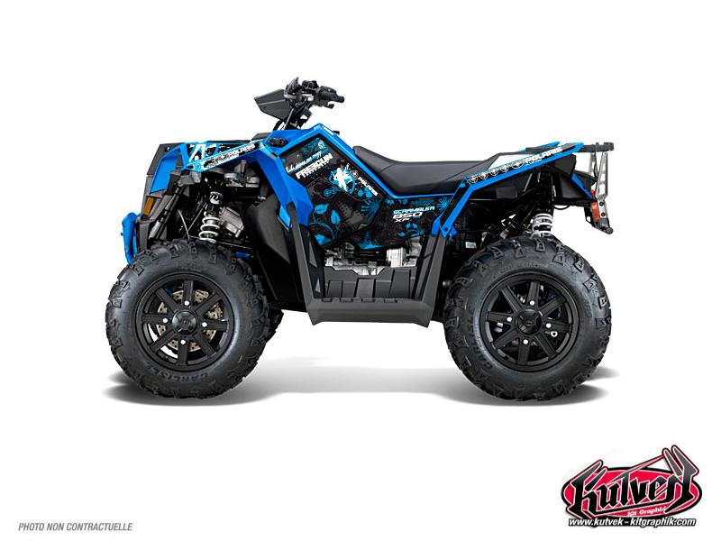 Polaris Scrambler 850-1000 XP ATV Freegun Graphic Kit Blue FULL