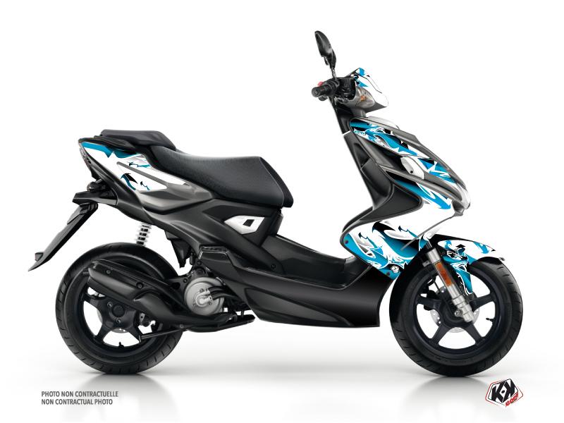 Kit Déco Scooter Fun Yamaha Aerox Bleu