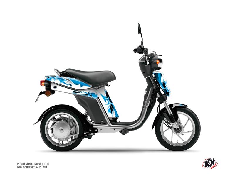 Yamaha Eco-3 Scooter Fun Graphic Kit Blue