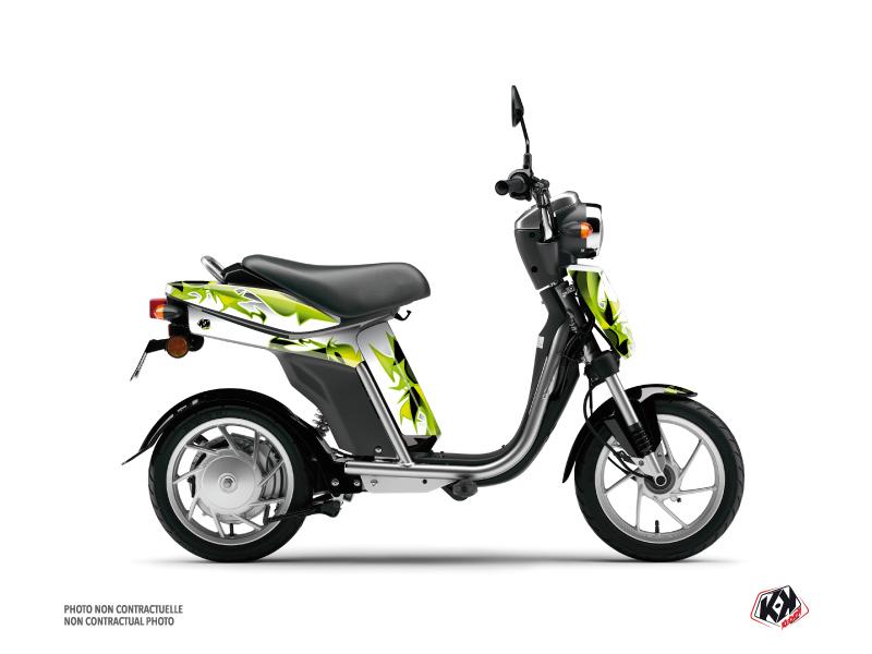 Yamaha Eco-3 Scooter Fun Graphic Kit Green