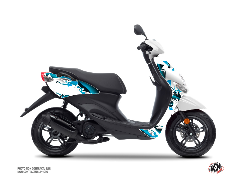 MBK Ovetto Scooter Fun Graphic Kit Blue