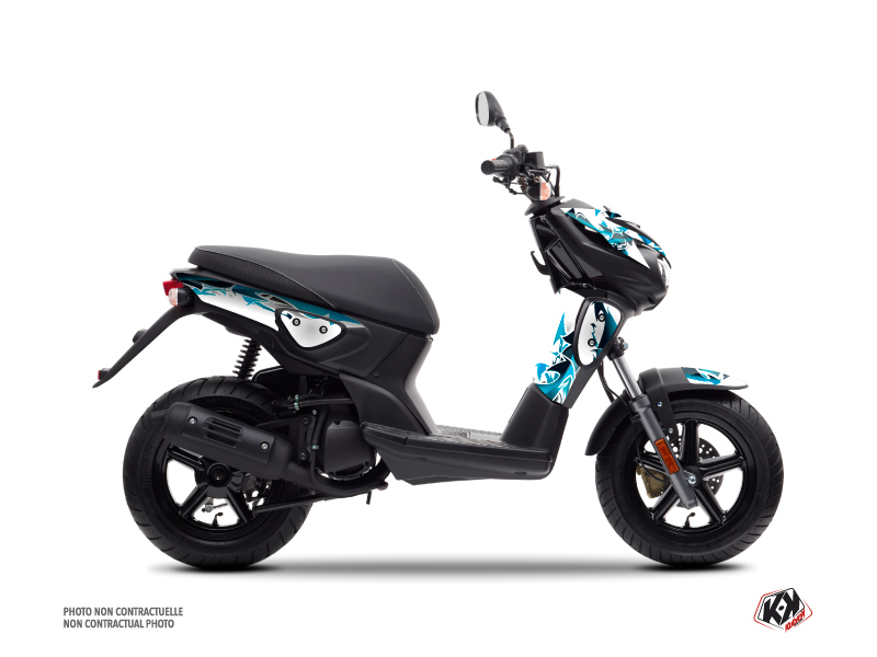 Yamaha Slider Scooter Fun Graphic Kit Blue
