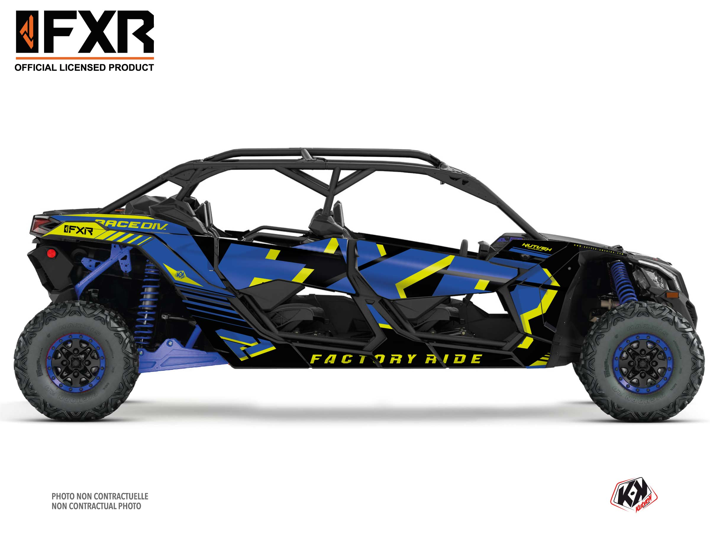 Can Am Maverick X3 MAX UTV FXR N1 Graphic Kit Blue