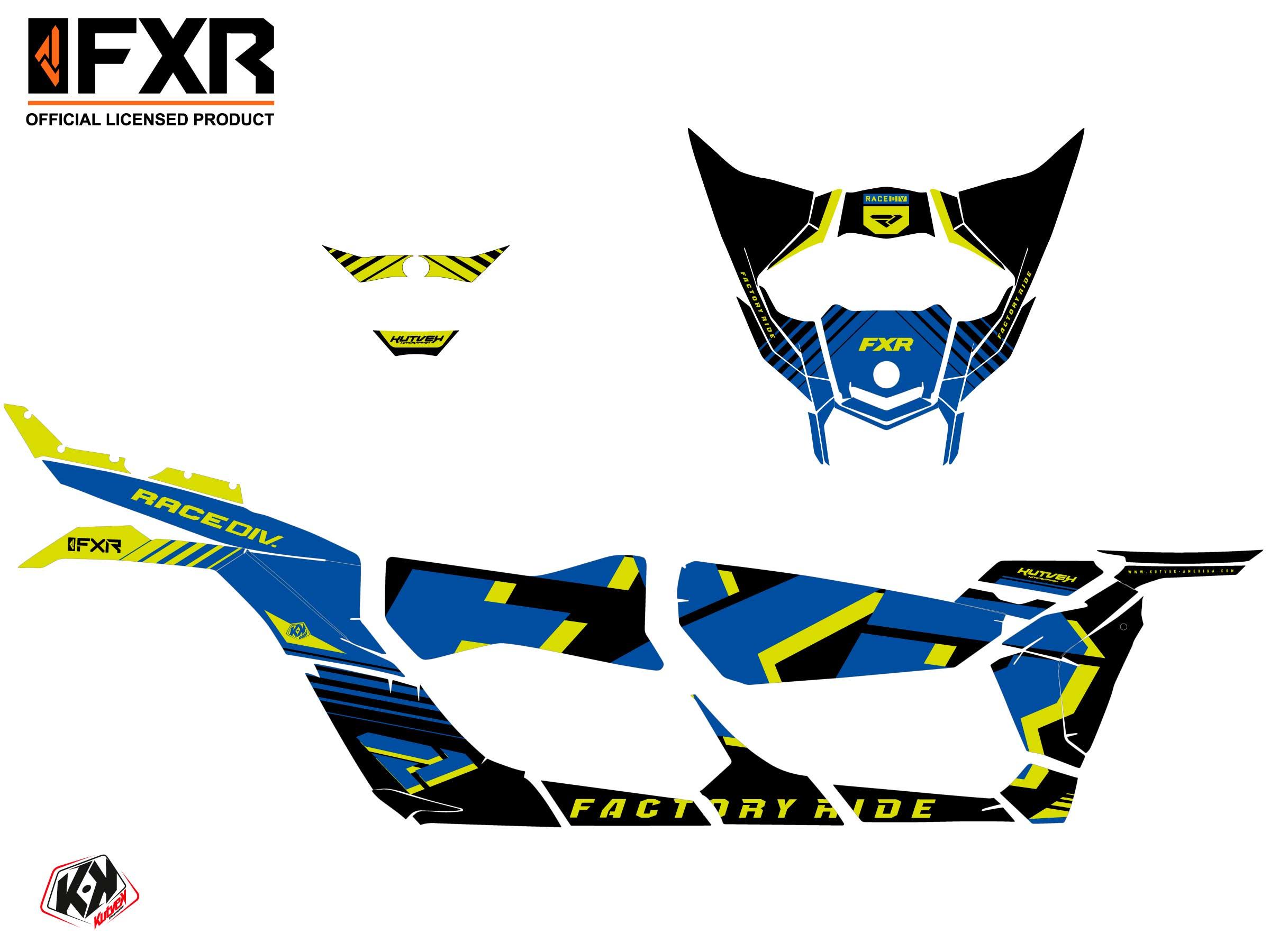 Kit Déco SSV FXR N1 Can Am Maverick X3 MAX Bleu