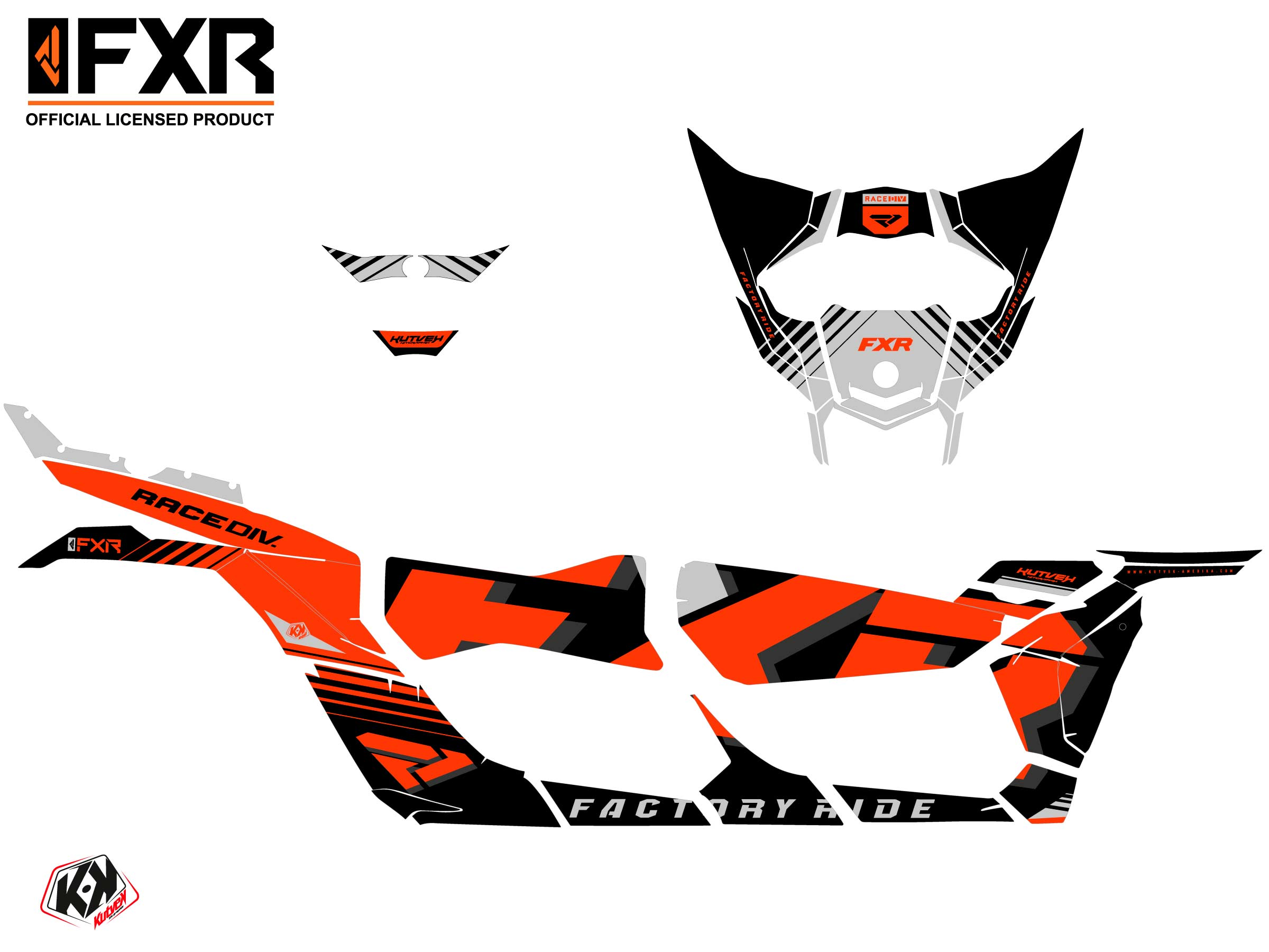 Kit Déco SSV FXR N1 Can Am Maverick X3 MAX Rouge