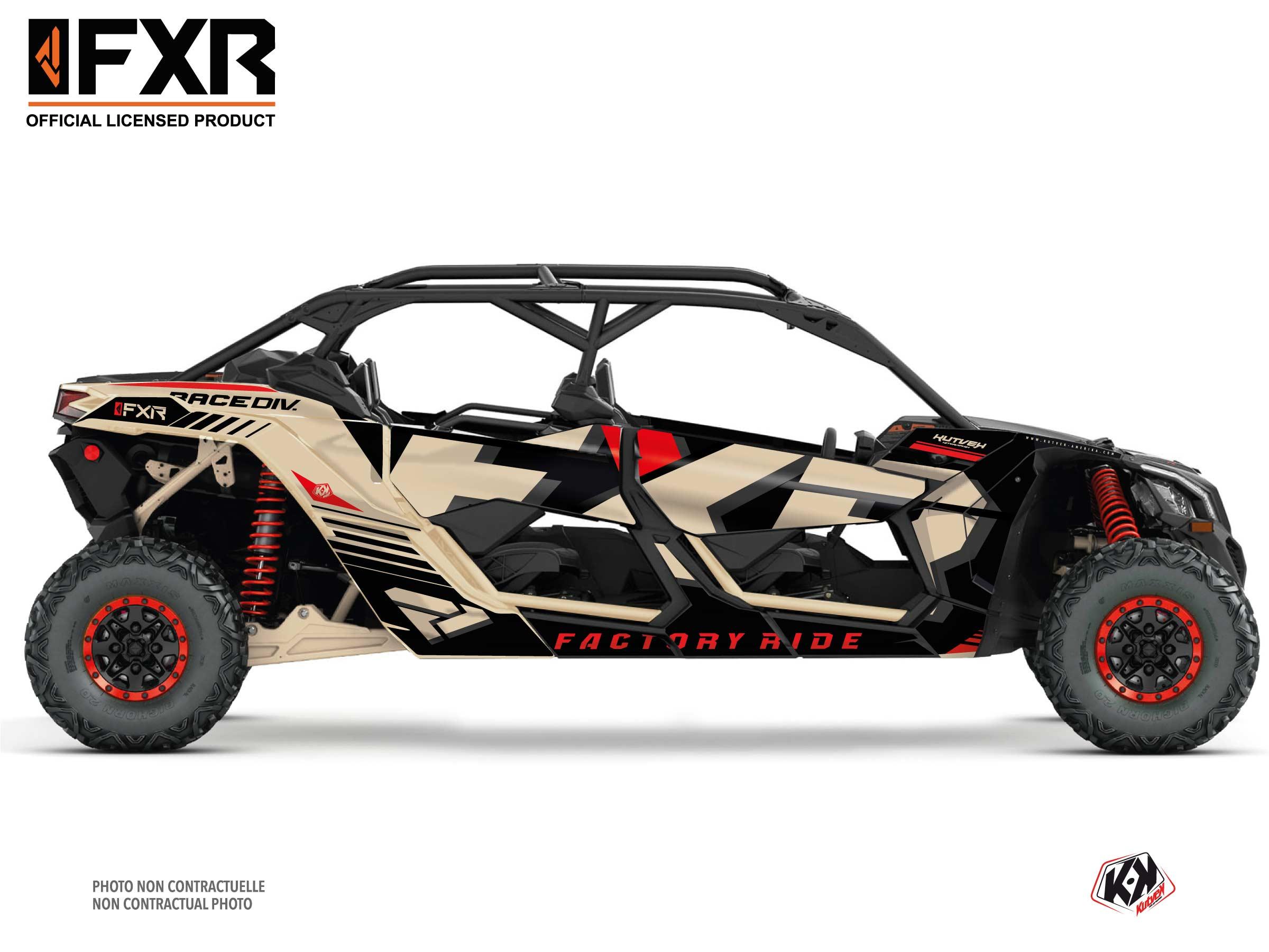 Can Am Maverick X3 MAX UTV FXR N1 Graphic Kit Sand