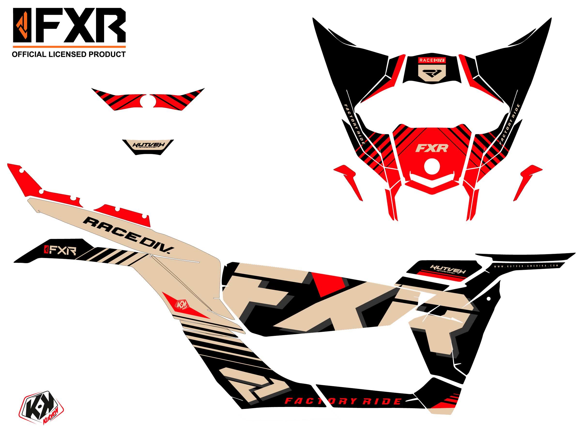 Can Am Maverick X3 UTV FXR N1 Graphic Kit Sand