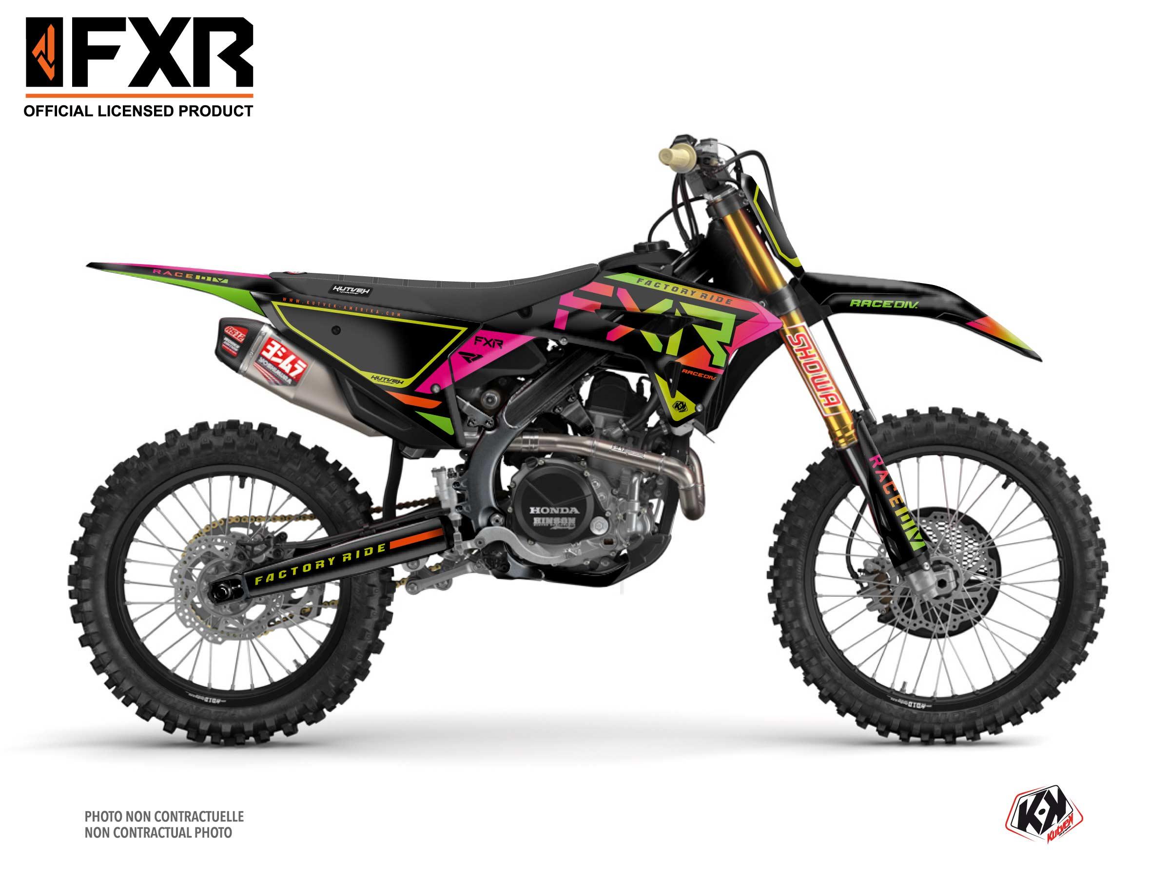 Kit Déco Moto Cross FXR N2 Honda 450 CRF Colors