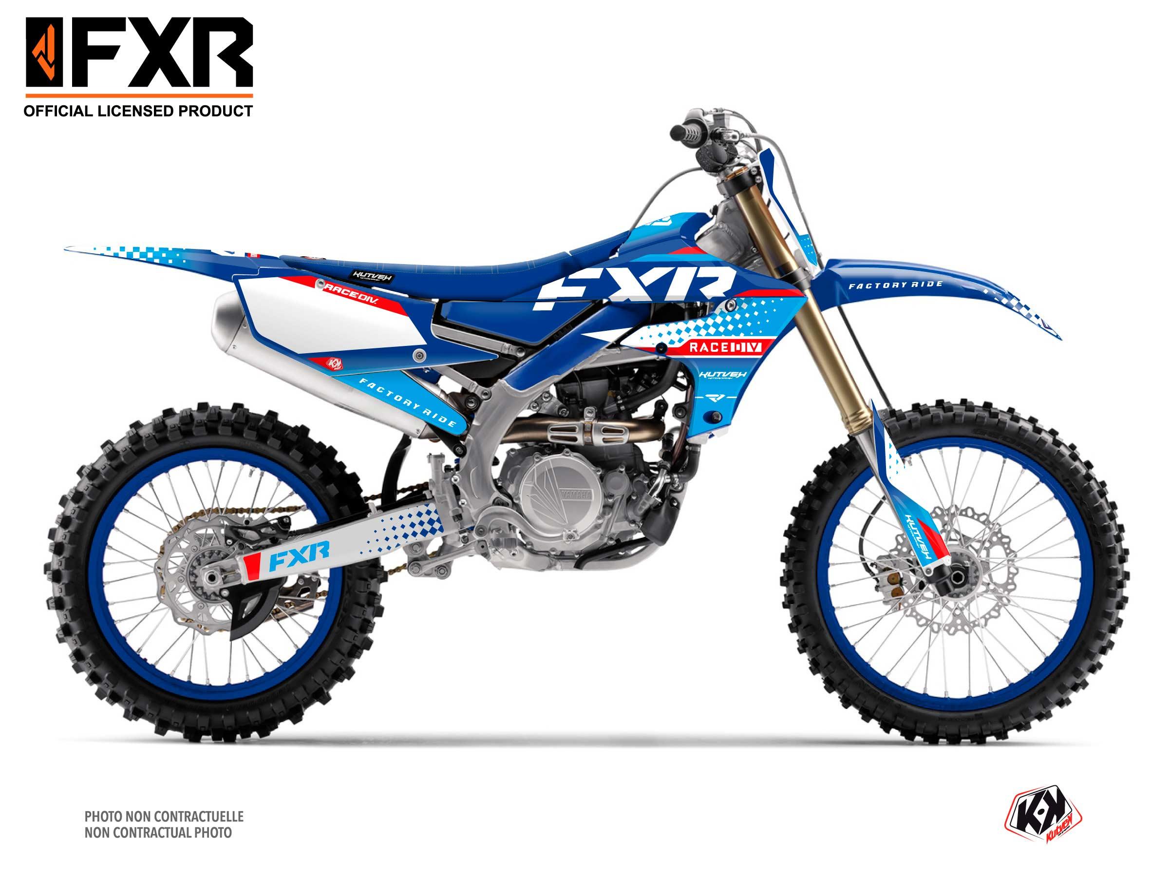 Kit Déco Moto Cross FXR N3 Yamaha 450 YZF Bleu
