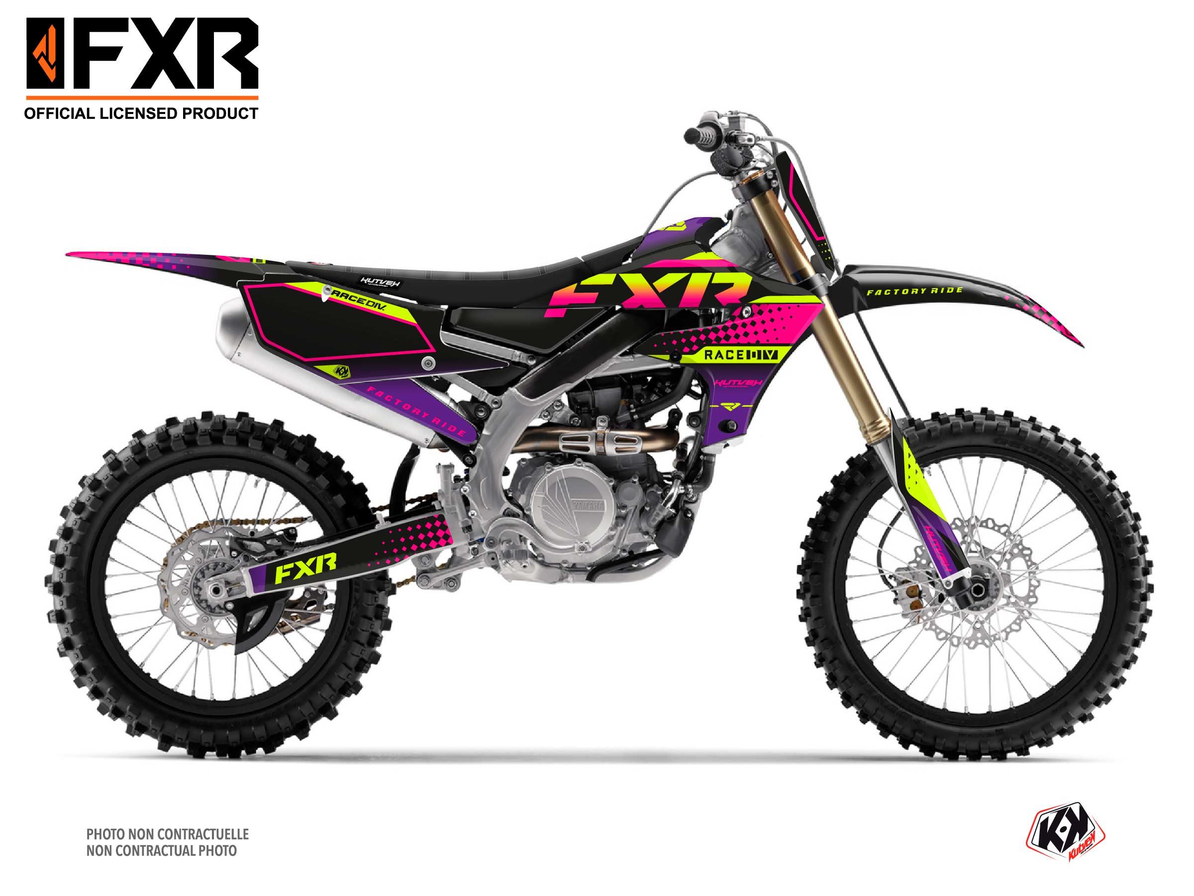 Kit Déco Moto Cross FXR N3 Yamaha 450 YZF Noir