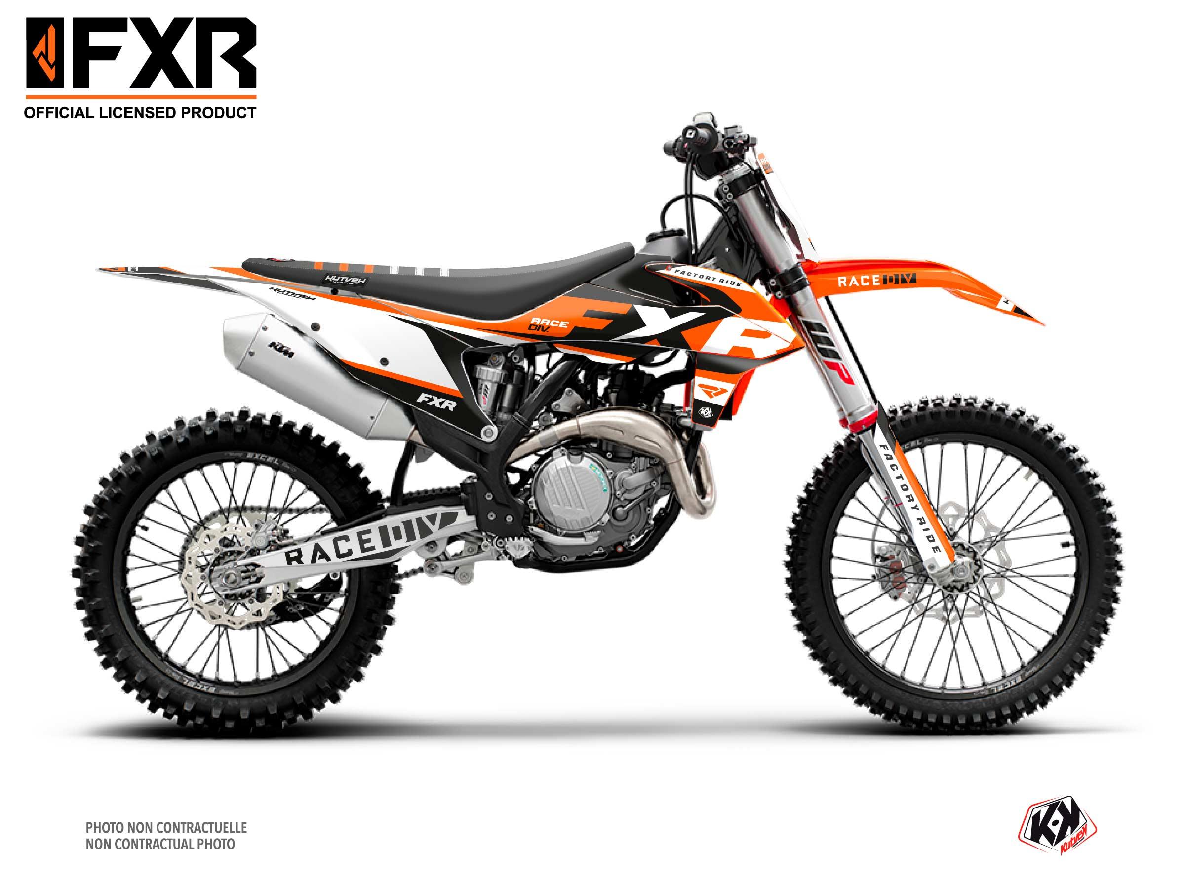 Kit Déco Moto Cross FXR N4 KTM 300 XC Orange