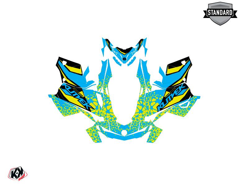 Skidoo Gen 4 Snowmobile Gage Graphic Kit Blue Yellow