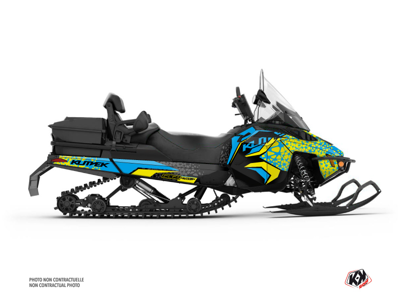 Skidoo REV XU Snowmobile Gage Graphic Kit Blue Yellow