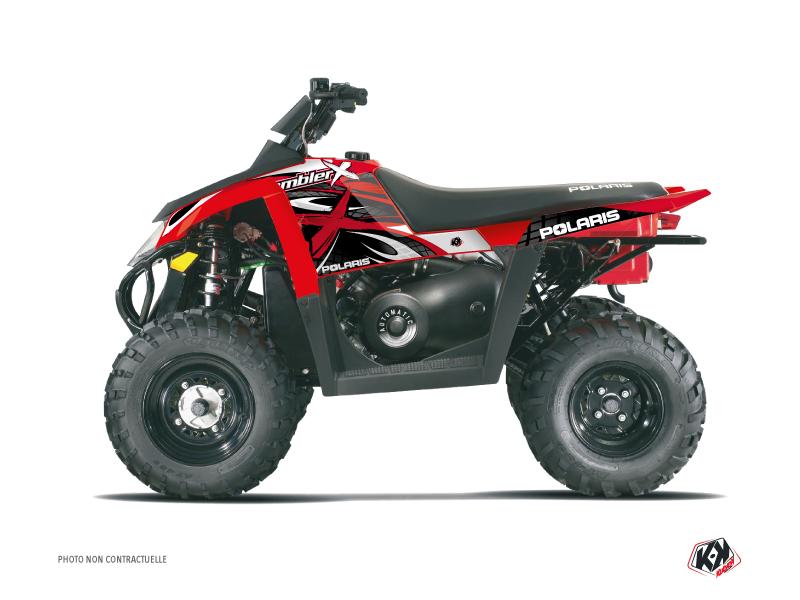 Polaris Scrambler 500 ATV Gamme X Graphic Kit Red