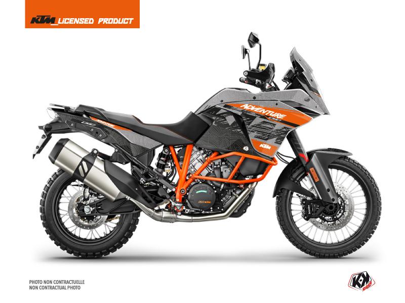 KTM 1090 Adventure R Street Bike Gear Graphic Kit Grey Orange
