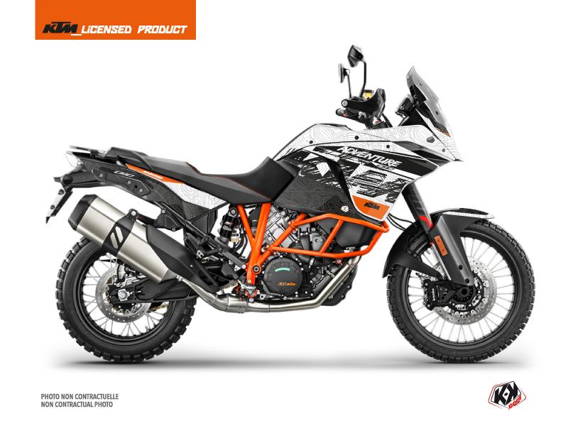 KTM 1190 Adventure R Street Bike Gear Graphic Kit White