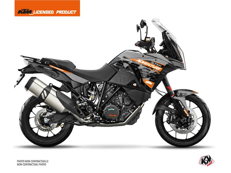 Kit Déco Moto Gear KTM 1290 Super Adventure S Gris Orange