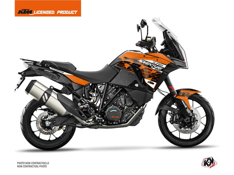 KTM 1290 Super Adventure S Street Bike Gear Graphic Kit Orange