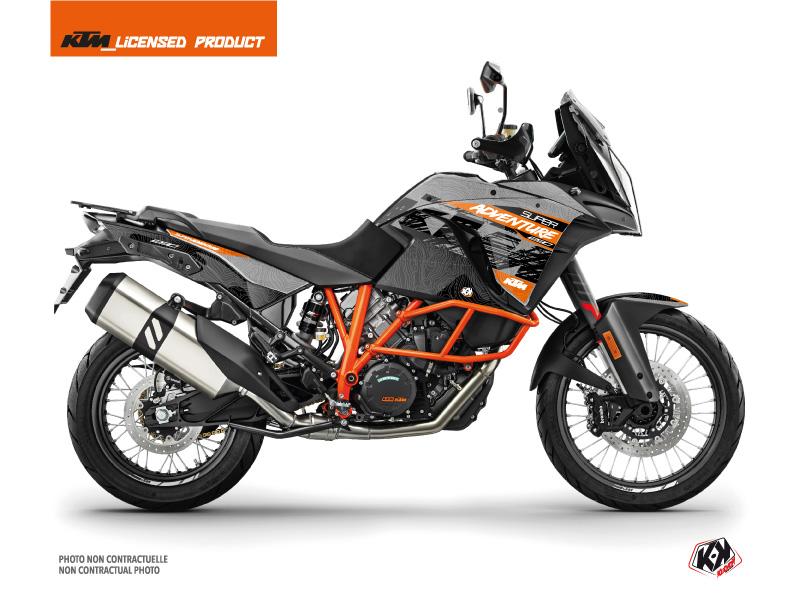 KTM 1290 Super Adventure R Street Bike Gear Graphic Kit Grey Orange